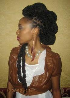 Corte de cabelo moicano para negras