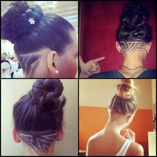 Fotos de cortes de cabelo moicano feminino com desenhos