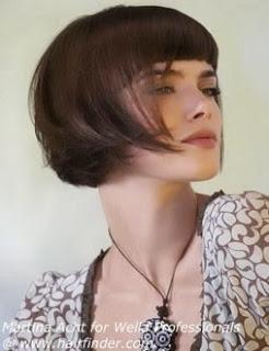 Fotos de cabelo chanel moderno com franja