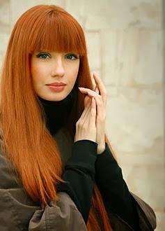Fotos de cortes de cabelo comprido liso ruivo