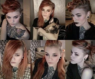 Penteados diferentes para moicano feminino