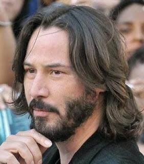 Cabelos masculinos com barba