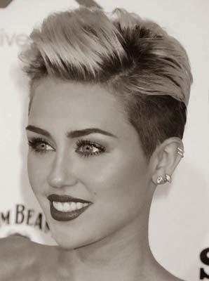 Miley Cyrus e suas madeixas
