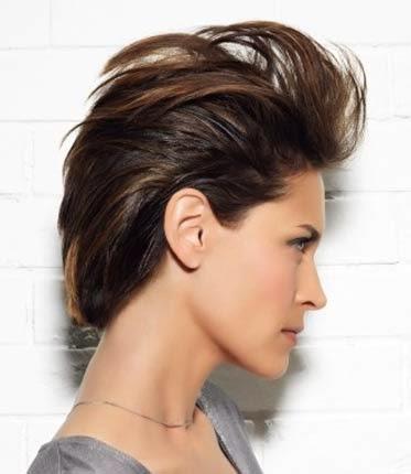 penteados com topete cabelo solto e curto atrás