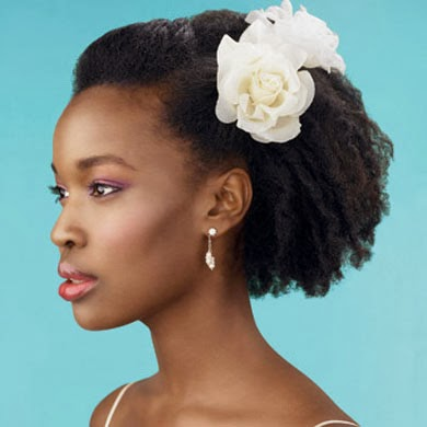 Fotos de penteados afros romanticos