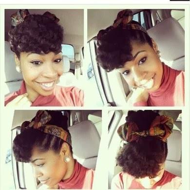 Como fazer um penteado afro com lenço e faixa
