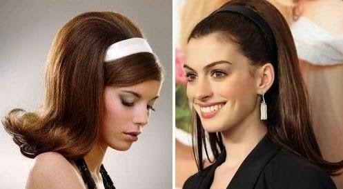 como fazer penteados dos anos 60 com tiaras com fotos