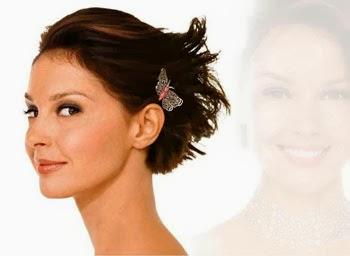 Fotos de penteados delicados semi presos para cabelos curtos lisos