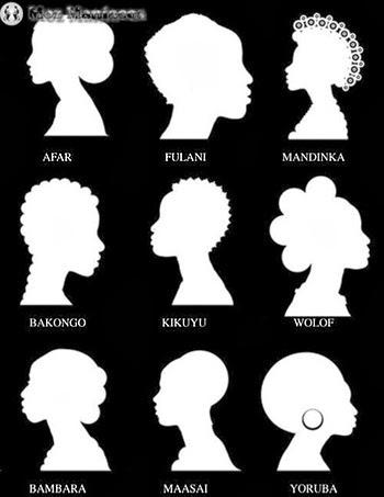 Modelos e nomes de penteados africanos tradicionais