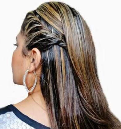 Penteado para cabelos longos e lisos passo a passo