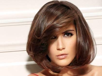 Franjas laterais para cabelos lisos femininos
