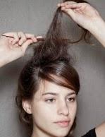 penteado de franja com tiara