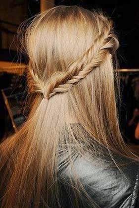 penteados com tiara de trança  passo a passo