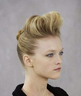 Penteados femininos com topete 2014