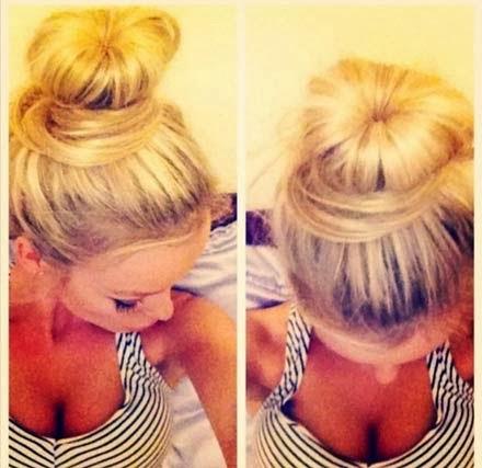coque rosca para cabelos compridos