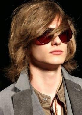 cortes de cabelo masculino liso longo grande