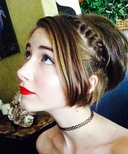 cabelos curtos para formatura