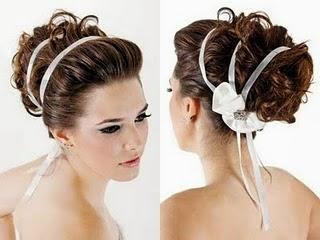 coques bagunçados para noivas - cabelos cacheados