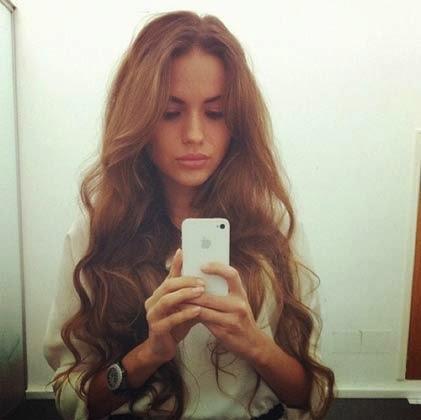 penteados com cabelos soltos e lisos