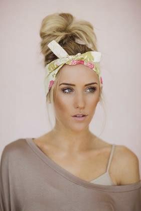 Bandana como headband