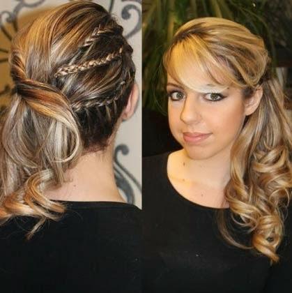 penteados para cabelos longos presos - formaturas