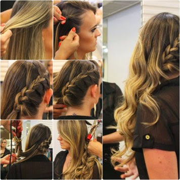 penteados para cabelos longos passo a passo