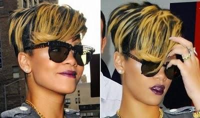 Cabelo side cut Rihanna