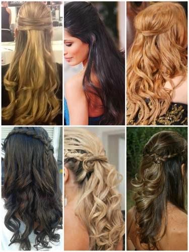 Fotos de como fazer penteados de formatura semi presos
