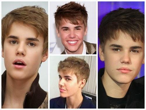 Fotos do corte de cabelo do Justin bieber