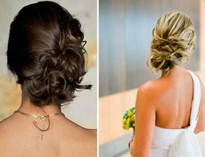 Imagens de penteados de formatura presos fios lisos e longos