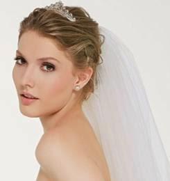 penteados presos para noivas com véu