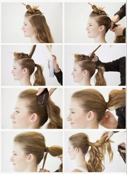penteados com moicano simples