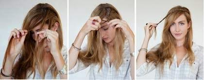 estilo de cabelo para testa grande passo a passo