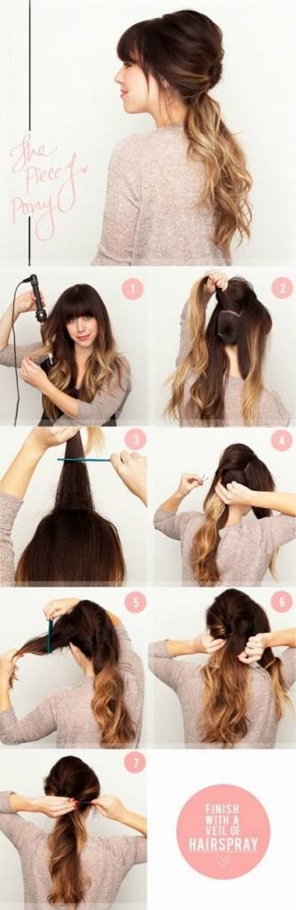 penteados simples para o dia a dia cabelos compridos