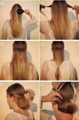 penteados chiques e simples