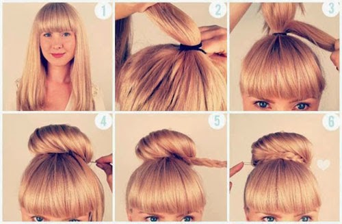 penteados para cabelos cacheados infantil para ir à escola das loiras