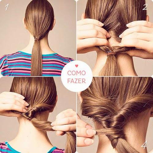 penteados simples para ir a escola