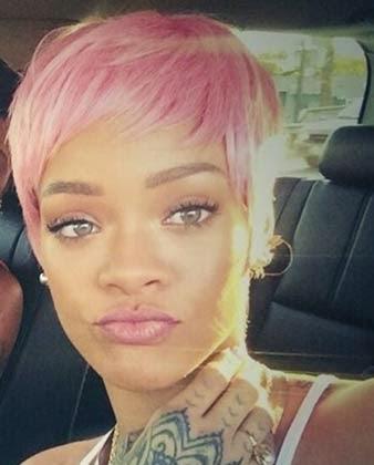 último corte de cabelo da Rihanna 2014