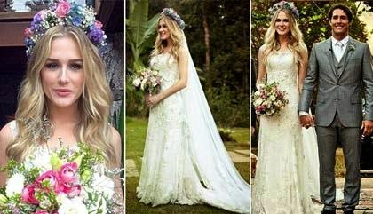 arranjos de cabelos para noivas com flores naturais