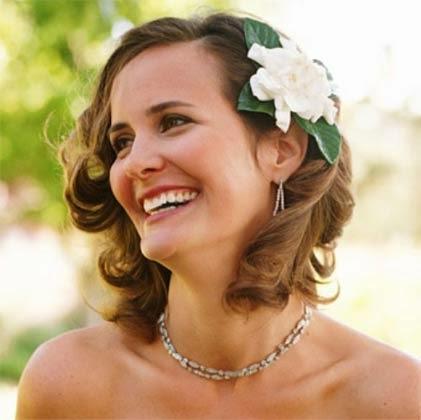 Penteados para noiva - cabelos curtos