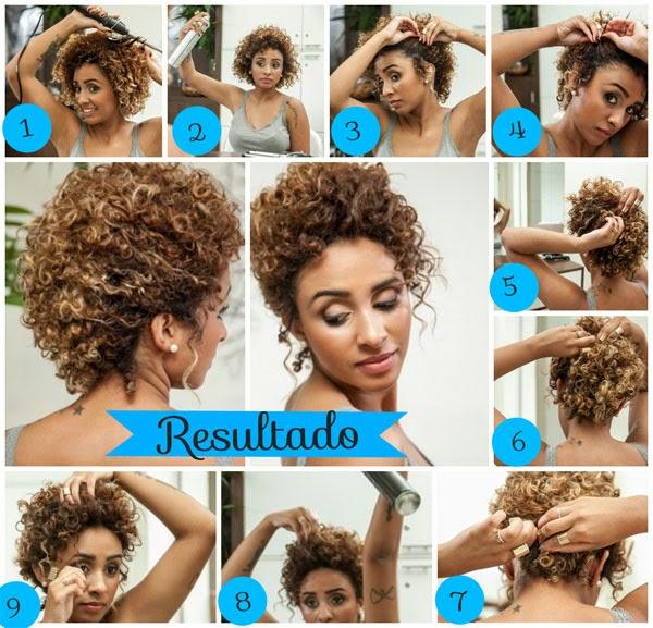 penteados para cabelos crespos passo a passo