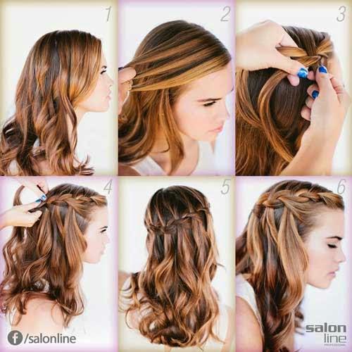 penteados simples para cabelos longos loiros