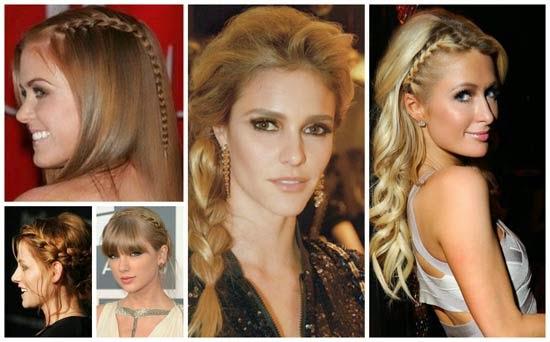 penteados das famosas com tranças