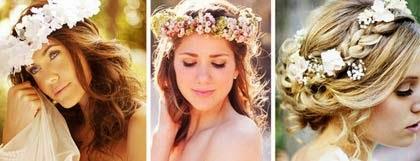 arranjos de testa para noivas