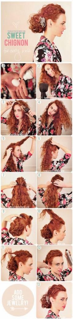 penteados para cabelos crespos longos