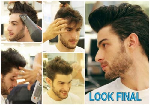 penteados masculinos diferentes do momento