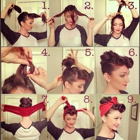 penteados pin up passo a passo