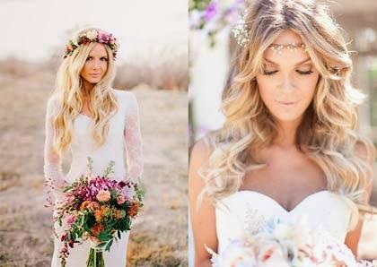 penteado clássico com cabelo solto - casamento