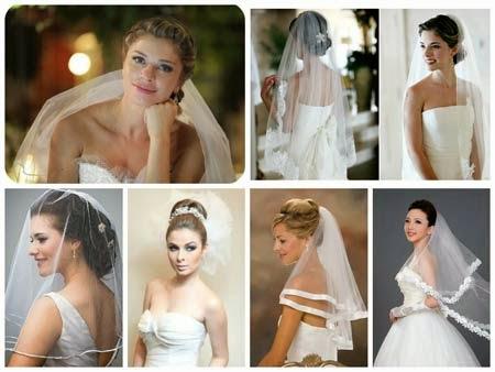 penteados para noivas com véu e grinalda