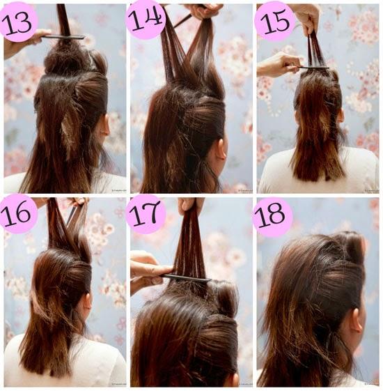 tutorial de penteados em cabelos curtos